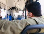Halk otobüsünde akılalmaz manzara