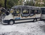 Park halindeki öğrenci servisi yandı