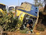 Minibüs devrildi: 14 yaralı