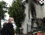Cumhurbaşkanı Erdoğan'dan yanan Vaniköy Camii'nde inceleme