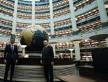 Erdoğan, Katar Emiri ile Millet Kütüphanesi'ni ziyaret etti