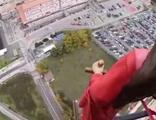 Azize heykeli, helikopterle kenti turladı