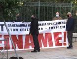 Yunanistan'da Miçotakis'e 'açız' pankartlı tepki