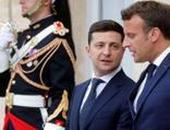 """Zelenskiy ve Macron, """"Donbas krizini"""" görüştü"""