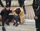 Polisin 'dur' ihtarına uymadı, ortalığı birbirine kattı!