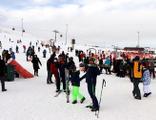 Erciyes Kayak Merkezi dolup taştı