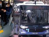 Elektrikli sürücüsüz otobüs Türkiye'de test edildi