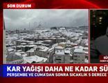 """""""İstanbul'da kar yağışı yarın da devam edecek"""""""