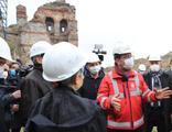 İmamoğlu, İstanbul surlarında inceleme yaptı