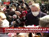 Cumhurbaşkanı Erdoğan'a sürpriz kutlama