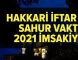 Hakkari imsakiye 2021