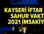 Kayseri imsakiye 2021