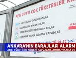 Ankara'nın barajları alarm veriyor