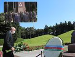 Erdoğan, Haydar Aliyev'in kabrini ve şehitliği ziyaret etti