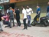 İki grup sokak ortasında birbirine girdi!