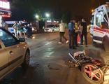 Silahlı saldırıdan kaçmak isterken motosikletliye çarptı
