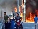 Mahallede büyük panik! Bomba gibi patladı