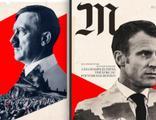 Macron'u Hitler'e benzeten afişlere soruşturma