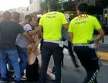 Taksim Meydanı'nda saçlarından sürüklediler