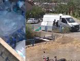 Yangında görevli ekibin içme suyunu çöpe attılar!