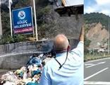 Seyir halindeki çöp kamyonu aniden alev aldı