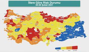 Türkiye Covid-19 Risk Haritası - Koronavirüs