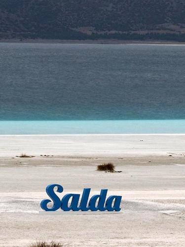 Salda Gölü'ndeki son durum görüntülendi