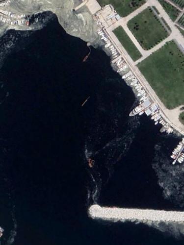 İstanbul'u saran müsilaj kabusu uzaydan böyle görüntülendi!