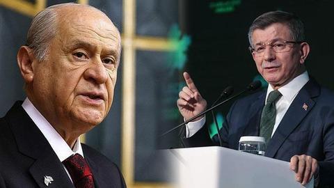 Ahmet Davutoğlu'nun randevu talebine, Devlet Bahçeli'den şartlı yanıt