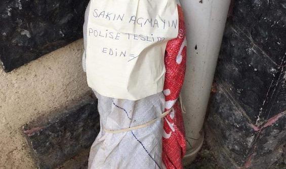 'Polise teslim edin' yazılı çuvaldan lav silahı çıktı