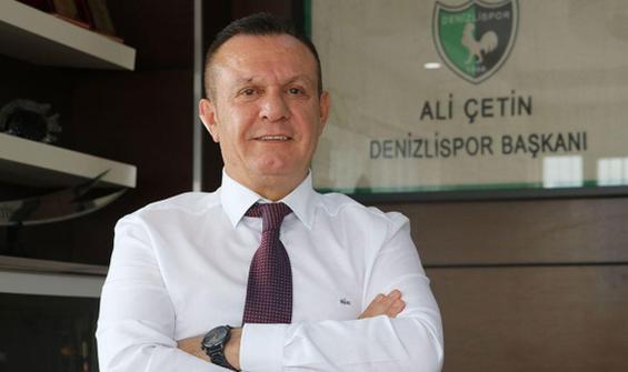 Denizlispor Başkanı Ali Çetin'den mali durum açıklaması