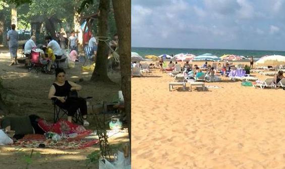 İstanbullular hafta sonu piknik alanlarına ve plajlara akın etti