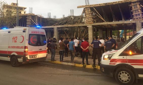 Beton dökülen inşaatta çökme: Yaralılar var