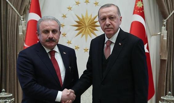Erdoğan'dan Şentop'a tebrik telefonu