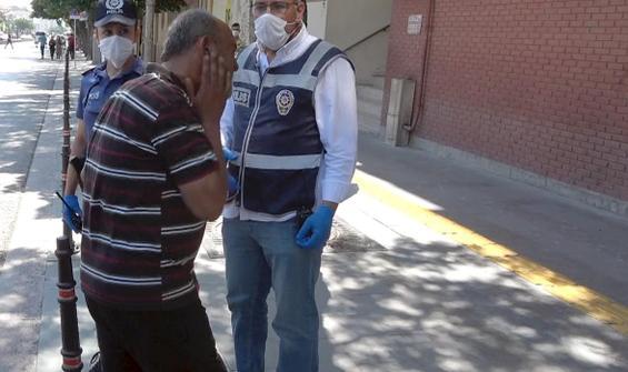 Maskesiz yakalandı, ceza kesilince kendini tokatladı