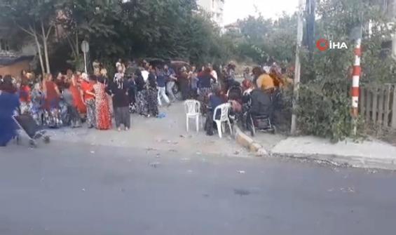 Pes dedirten sokak düğünü kamerada