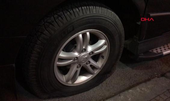 5 aracın lastikleri delici ve kesici aletlerle patlatıldı