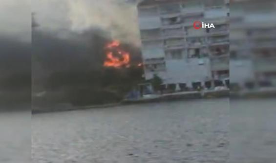 Bursa'da korku dolu anlar...Alevler siteye ulaşmadan söndürüldü