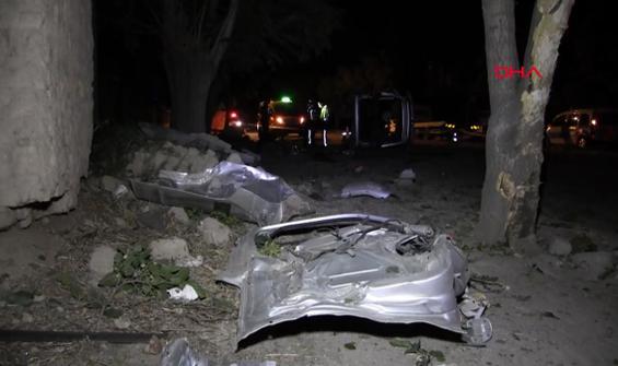 Devrilen minibüsün sürücüsü öldü