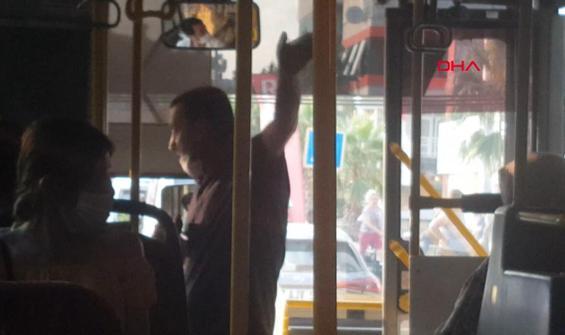 Otobüste 'maske' tartışması kamerada