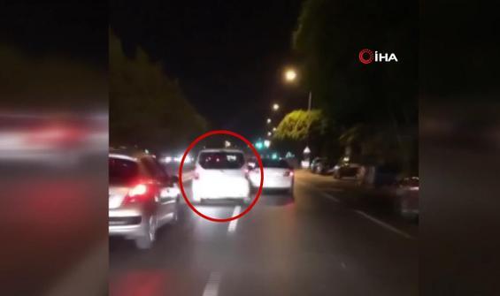 Trafikte makasçı terörü kamerada