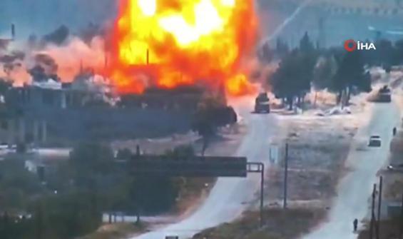 Rus askerlerine bombalı saldırı anbean kamerada