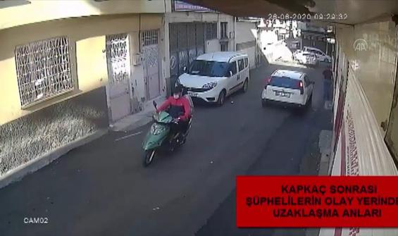 Gaziantep'te kapkaç anı güvenlik kamerasında