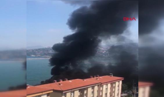 Zonguldak'ta kafe yandı