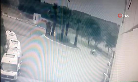 Acemi hırsızın bayırda kaldığı anlar kamerada