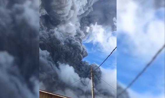 Yanardağ 3 gün içinde ikinci kez patladı