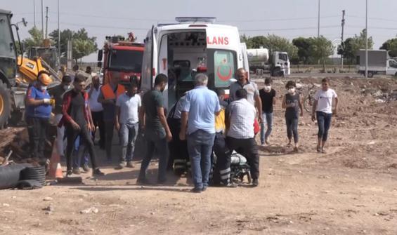 Göçük altında kalan işçi yaralandı