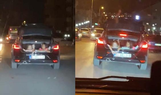 Ankara'da trafikte şoke eden görüntü