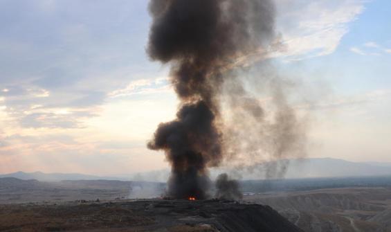 Denizli'de çöplükte çıkan yangın korkuttu
