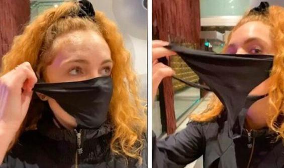 Maskesini evde unutunca külodunu kullandı